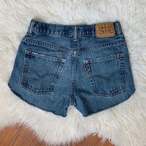 Levi's 527 vintage high rise cut off shorts